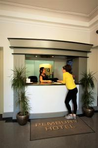 The lobby or reception area at Pembury Hotel at Finsbury Park