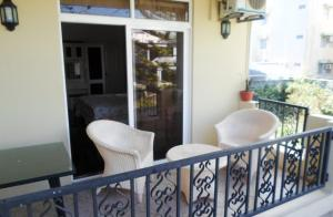 A balcony or terrace at Apartments la Colombe
