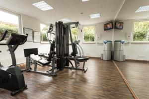 Das Fitnesscenter und/oder die Fitnesseinrichtungen in der Unterkunft Hotel Markkleeberger Hof
