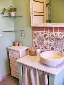 A bathroom at Il Ramingo