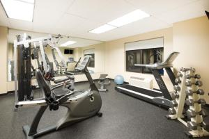 The fitness center and/or fitness facilities at Ramada by Wyndham St. John's