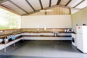 A kitchen or kitchenette at Hervey Bay Tourist Park