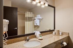حمام في Baymont by Wyndham Dallas/ Love Field