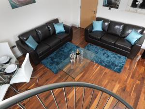 A seating area at Garden View, 6 Rodley Hall, Leeds