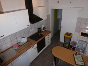 Küche/Küchenzeile in der Unterkunft Ferienwohnung Pretz