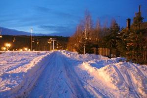 Domik Gornolyzhnika during the winter