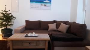 Ein Sitzbereich in der Unterkunft Ferienwohnung Ohmeis