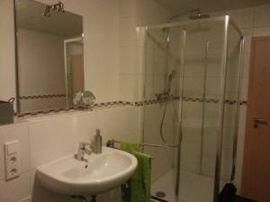 Ein Badezimmer in der Unterkunft Ferienwohnung Ohmeis