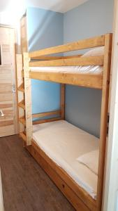A bunk bed or bunk beds in a room at Les Brigues