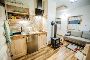 Kuchnia lub aneks kuchenny w obiekcie Osada Stary Bór