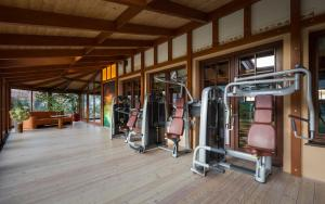 Centrum fitness w obiekcie Alpejski Boutique Hotel