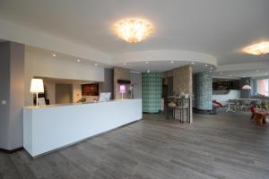 The lobby or reception area at Hotel Napoleon