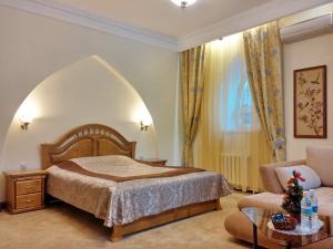 Кровать или кровати в номере Отель Беркут