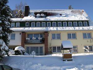 Pension Volkert during the winter
