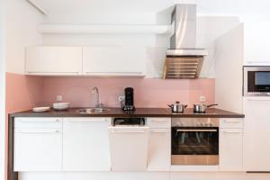 Küche/Küchenzeile in der Unterkunft APART Forellenhof