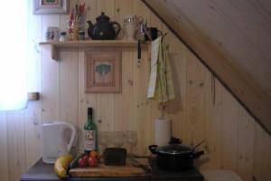Köök või kööginurk majutusasutuses Lonni Nature Eco-Accommodation