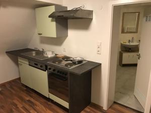 Küche/Küchenzeile in der Unterkunft Vatan Apartment