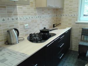 Кухня или мини-кухня в Apartment on Lenina 49