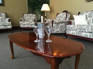 Coin salon dans l'établissement Motel Cofotel