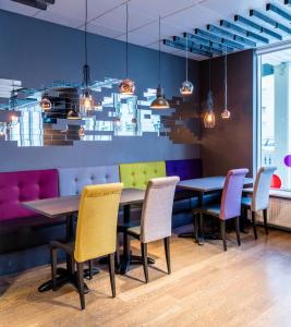 The lounge or bar area at Fosshótel Rauðará