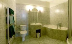 Koupelna v ubytování Hotel Barbarossa
