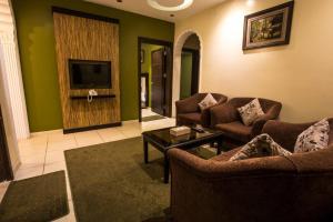 Uma área de estar em Qasr Al Mosaidya - Hira