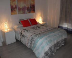 Cama o camas de una habitación en Apartamento Luceros
