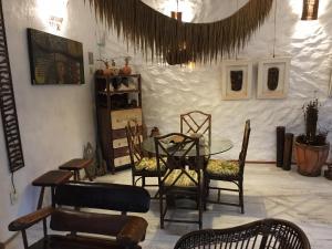 Uma área de estar em Pousada Bambu Brasil
