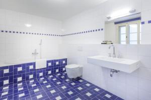 Koupelna v ubytování U Bílé Lilie