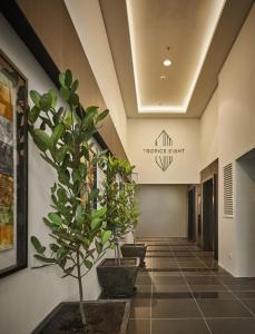 The lobby or reception area at Tropics Eight Suites
