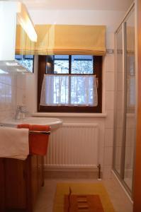 Koupelna v ubytování Alte Schmiede