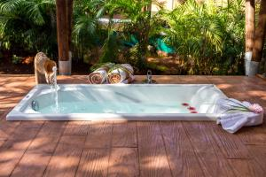 The swimming pool at or near Serenity Luxury Glamping Riviera Tulum