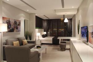 Uma área de estar em Rafa