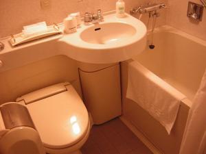 A bathroom at Sapporo Classe Hotel