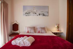 Uma cama ou camas num quarto em Casa Mariolas