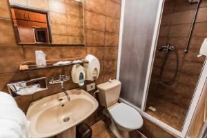 A bathroom at Hotel Sachticka