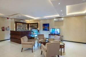 Uma área de estar em Taleen Hafsa Al Rawdah
