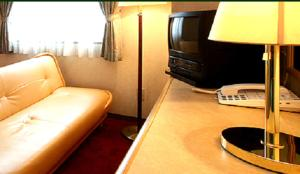 A television and/or entertainment center at Business Green Hotel Yokaichi