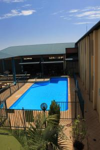 The swimming pool at or near Ningaloo Coral Bay Backpackers