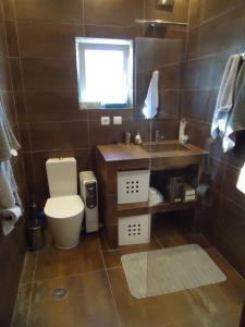 A bathroom at Casa da Paz