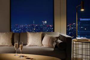 Een zitgedeelte bij Keio Plaza Hotel Tokyo