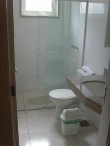 A bathroom at Hotel Erechim