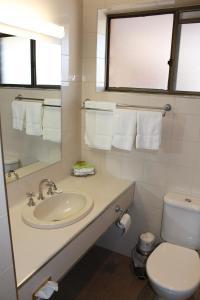 A bathroom at Bakery Hill Motel