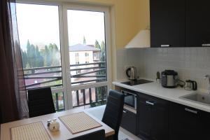 Кухня или мини-кухня в Апартаменты-студия на Тюльпанов 3