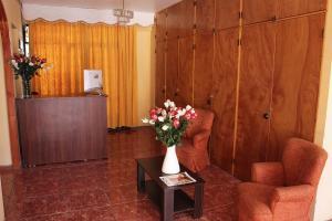 El vestíbulo o zona de recepción de Hotel Feudal