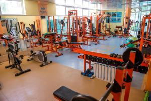 The fitness center and/or fitness facilities at Aqua Hotel