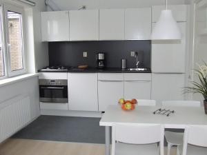 Küche/Küchenzeile in der Unterkunft De Viool