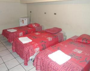 Кровать или кровати в номере Hotel Capriccio Mauá