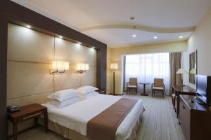 Кровать или кровати в номере Сагаан Морин