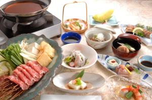 Breakfast options available to guests at Senkoji Sanso